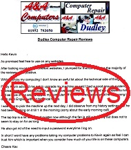A&A Computer Repair Customer Letters, Reviews